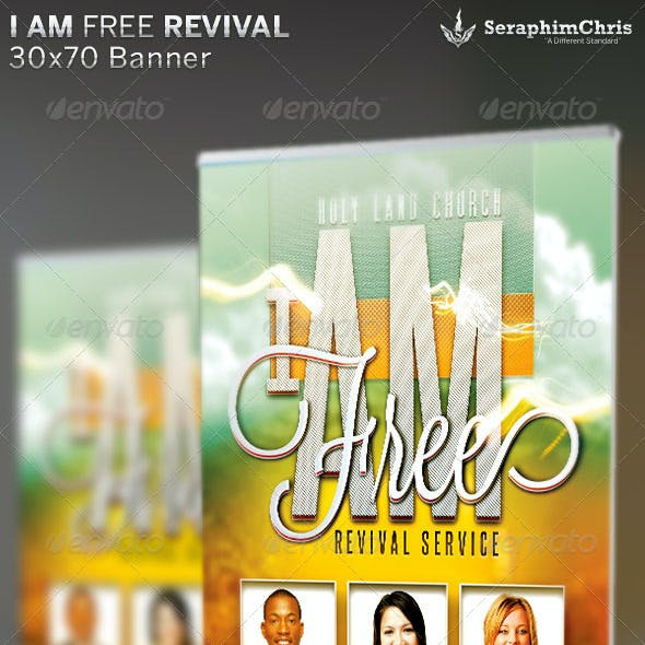 I Am Free Revival: Church Banner Template