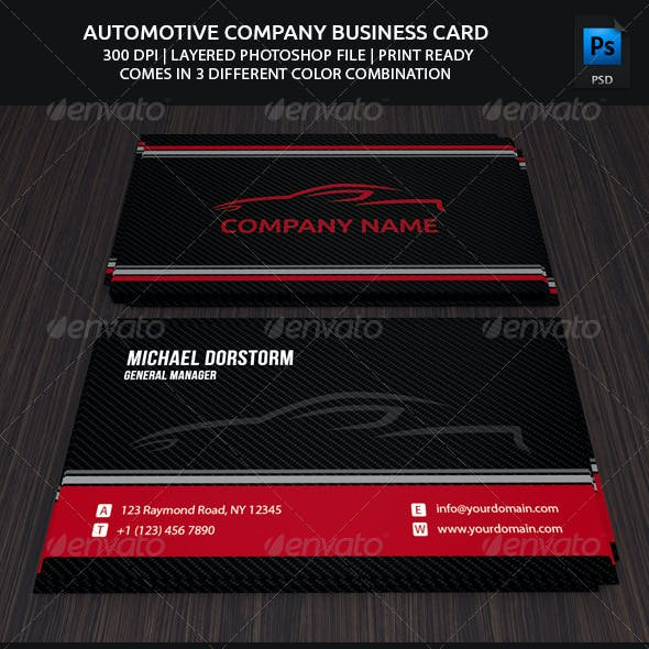 Carbon Automotive Business Card