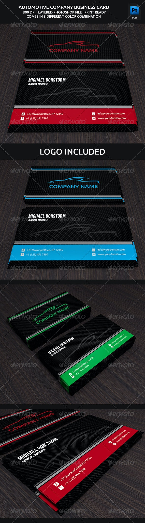 Carbon Automotive Business Card - Corporate Business Cards