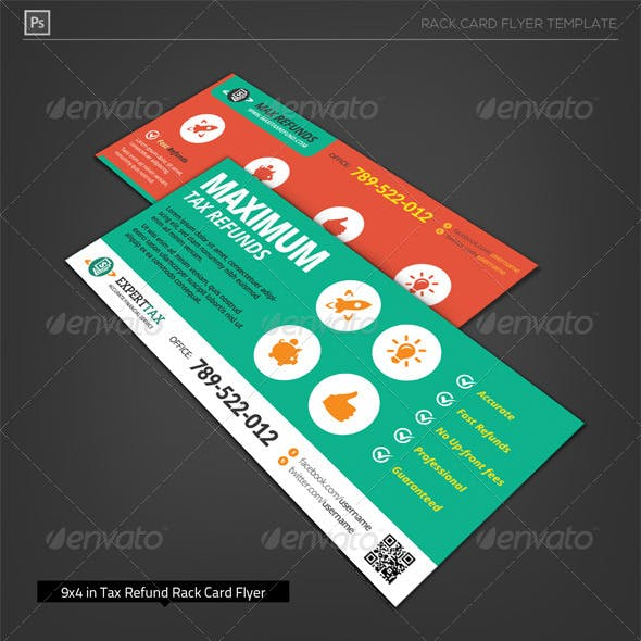 Corporate Tax Refund Financial Rack Card Flyer
