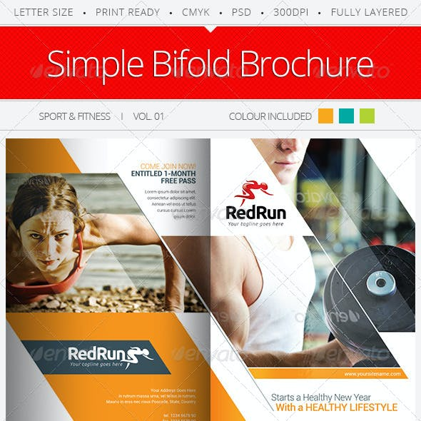 Sport & Fitness Bifold Brochure Vol.01