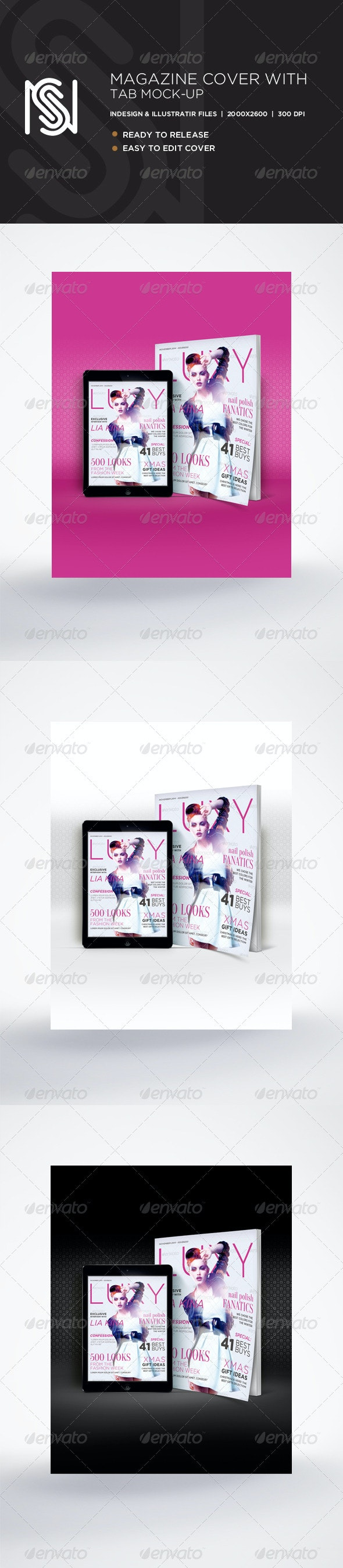 Magazine Cover & Tablet Mockup - Magazines Print