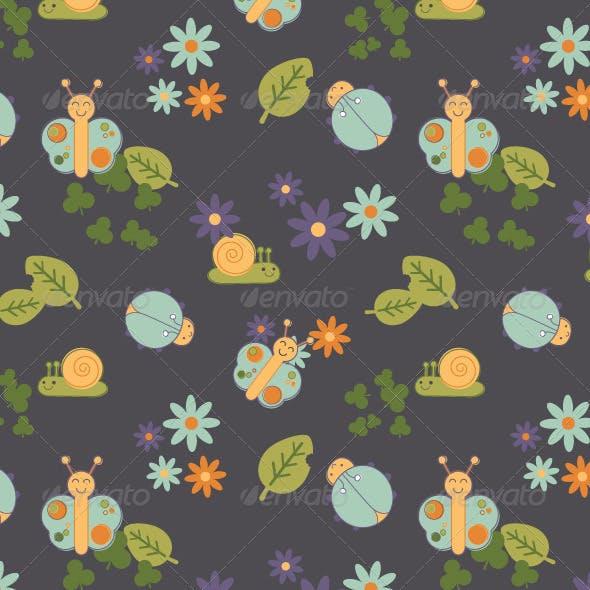 Baby Bugs Seamless Pattern