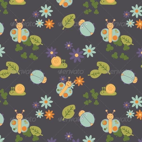 Baby Bugs Seamless Pattern - Patterns Decorative