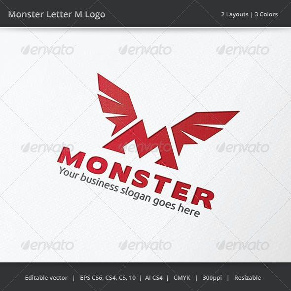 Monster M Letter Logo