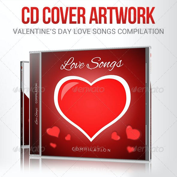 Love Songs for Valentine's Day CD Cover Artwork