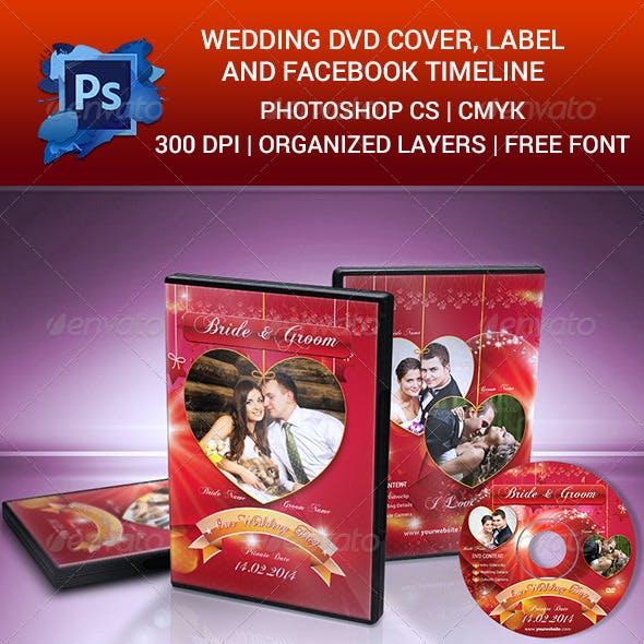 Wedding DVD Cover, Label & Facebook Timeline