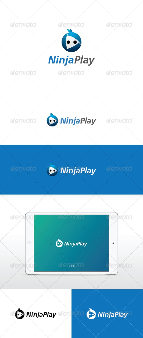 Ninja Play Logo Template - Abstract Logo Templates