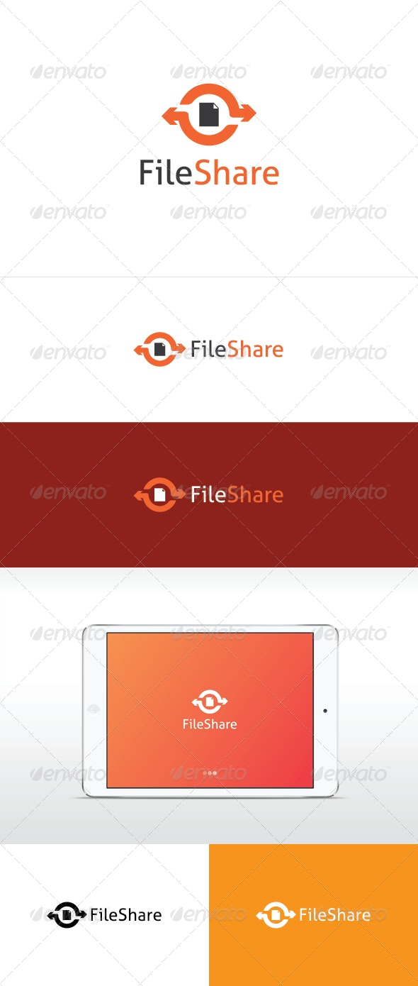 File Share Logo Template - Objects Logo Templates