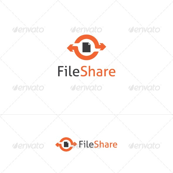 File Share Logo Template