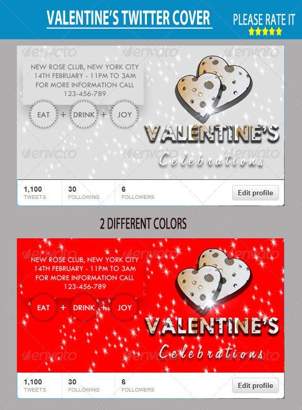 Valentine Twitter Cover - Twitter Social Media