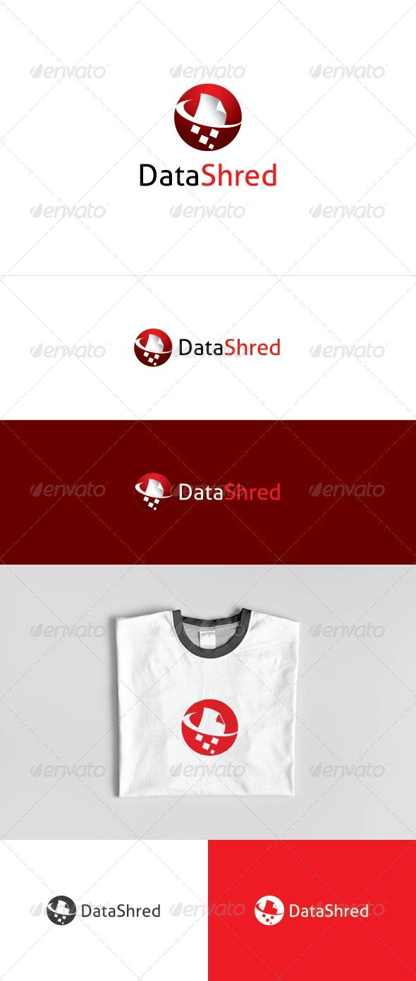Data Shred Logo - Objects Logo Templates