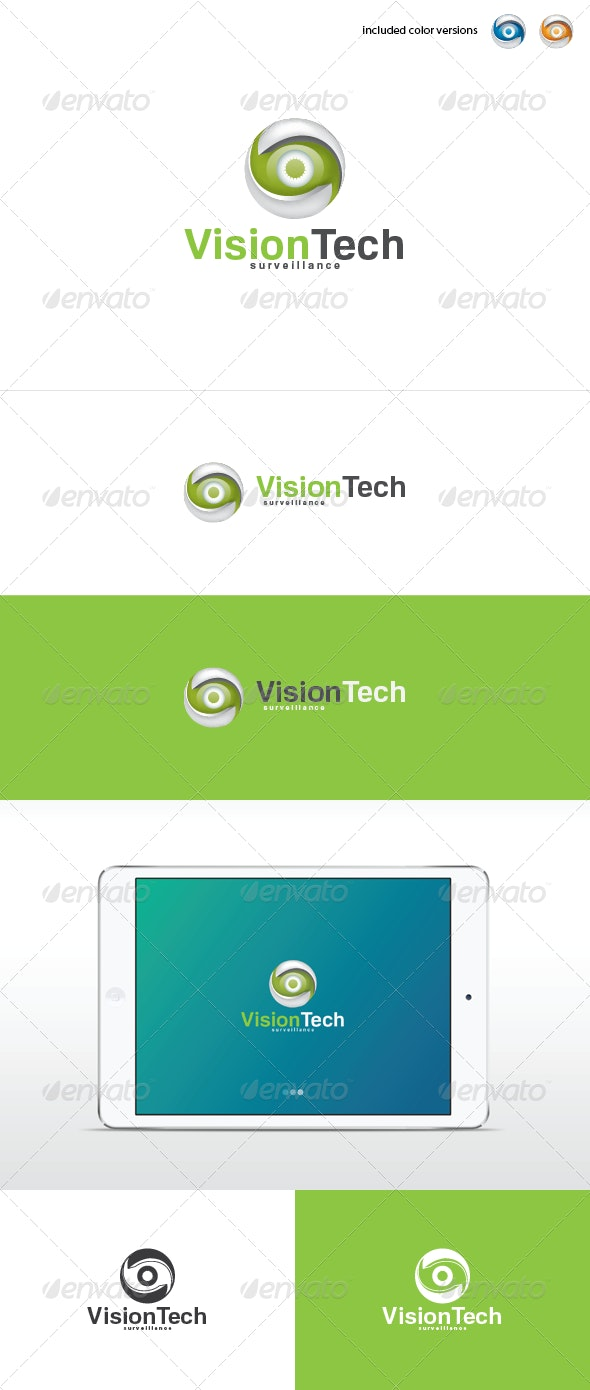 Vision Tech Logo Template  - 3d Abstract