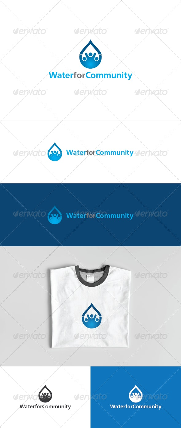 Water for Community Logo Template - Humans Logo Templates