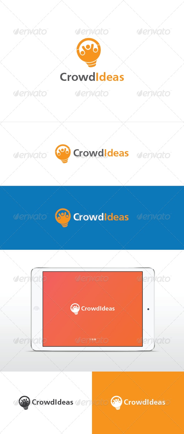Crowd Ideas Logo Template - Humans Logo Templates
