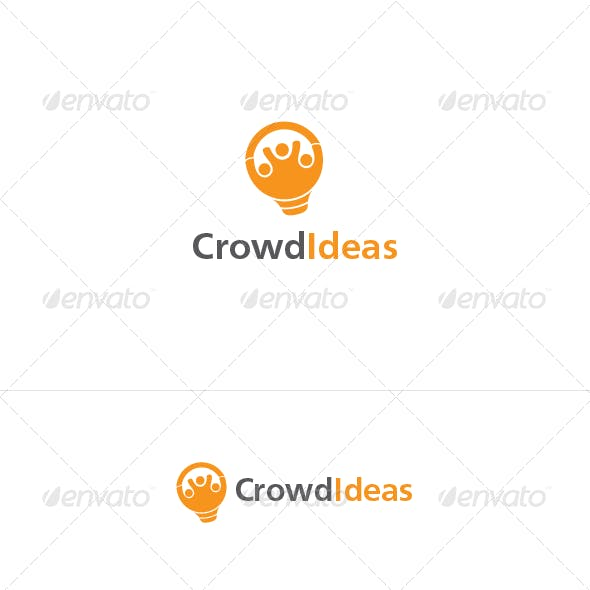 Crowd Ideas Logo Template