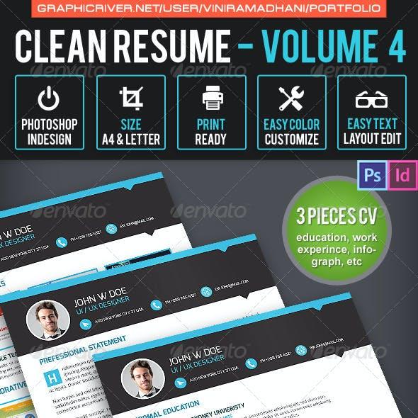 Simple & Clean Resume CV Volume 4