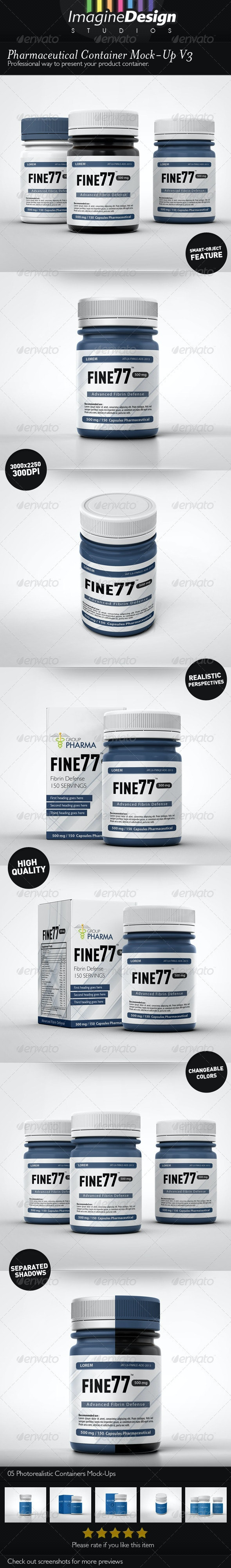 Pharmaceutical Container Mock-Up V3 - Packaging Product Mock-Ups
