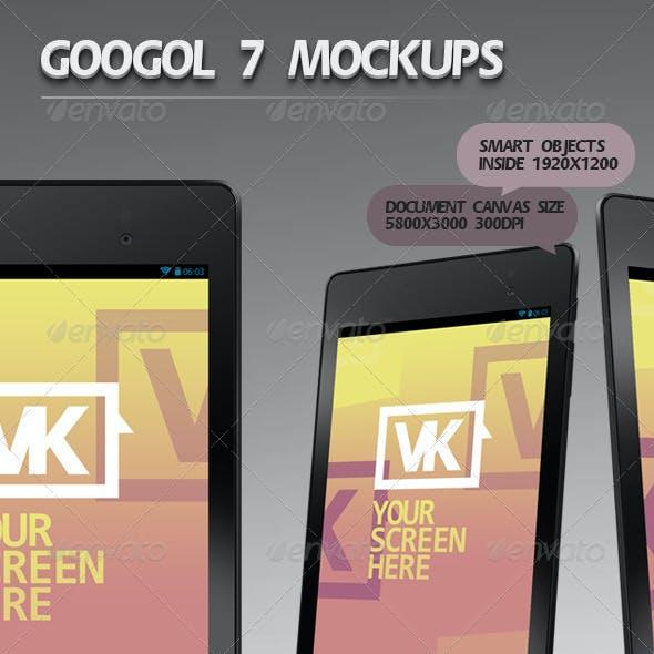 Googol 7 Mockups