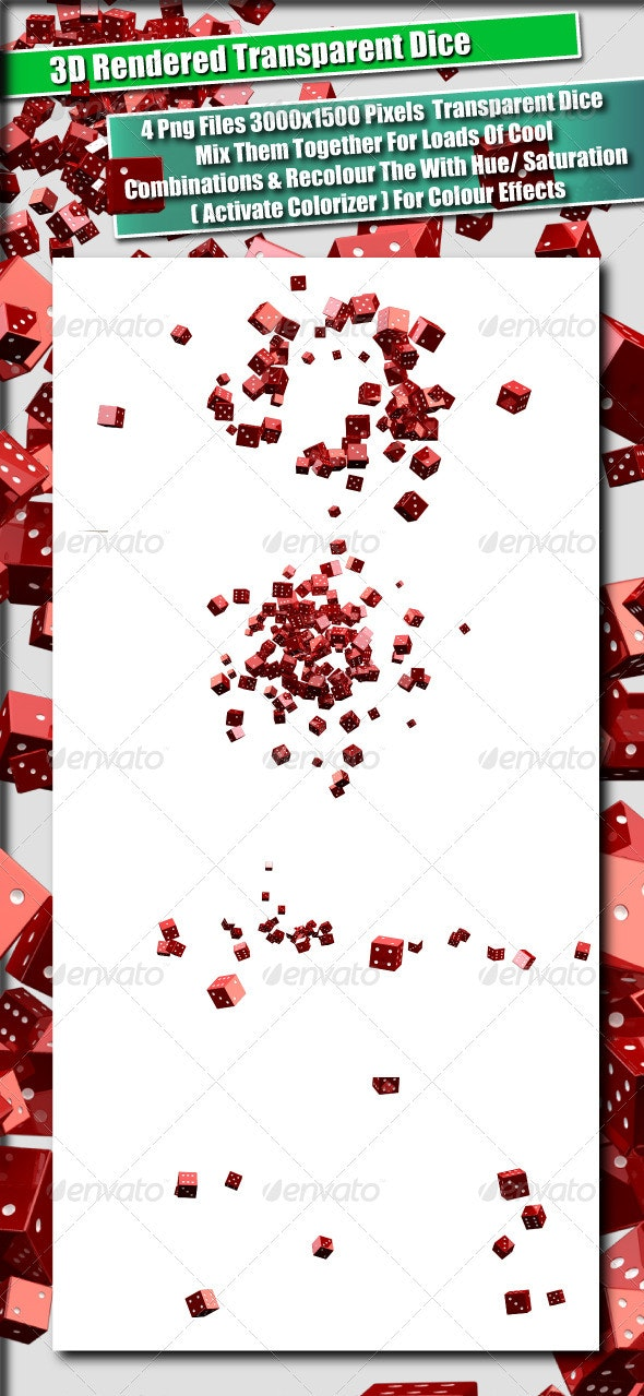 3D Rendered Dice  - Abstract 3D Renders
