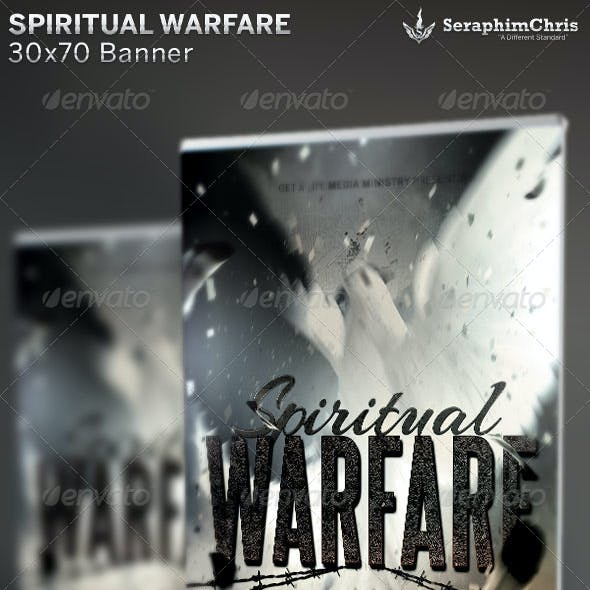 Spiritual Warfare: Church Banner Template