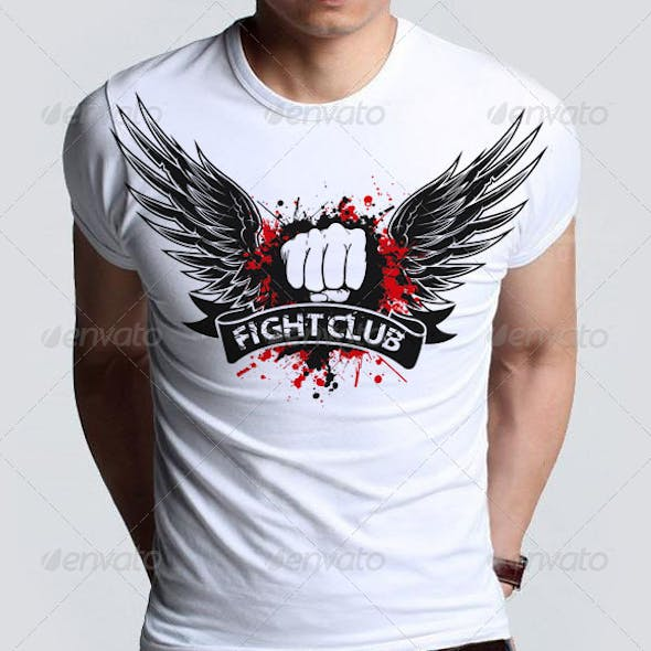Agressive Fight Club T-shirt  with Blood Splatter