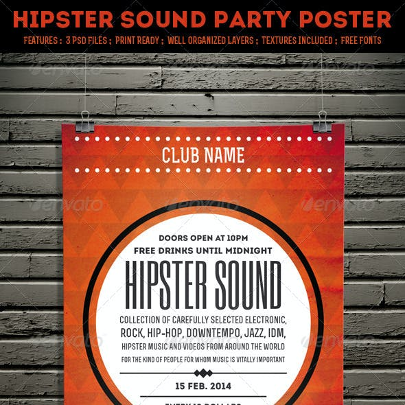 Hipster Sound Party Poster