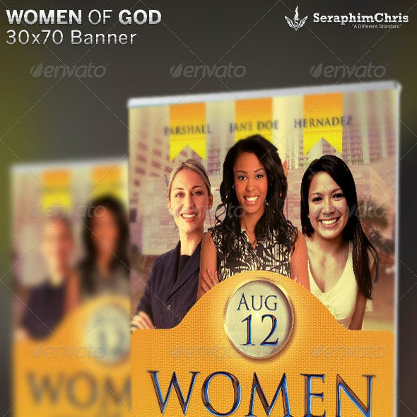 Women of God: Church Banner Template