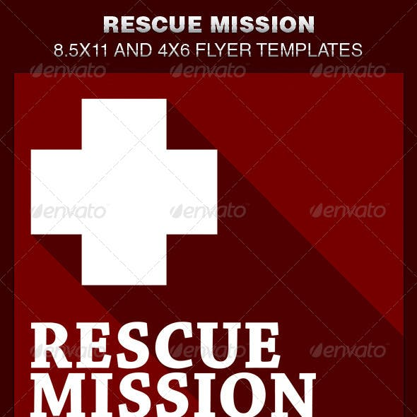 Rescue Mission Church Flyer Template