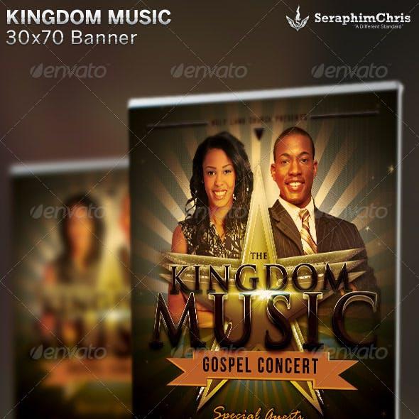 Kingdom Music: Church Banner Template