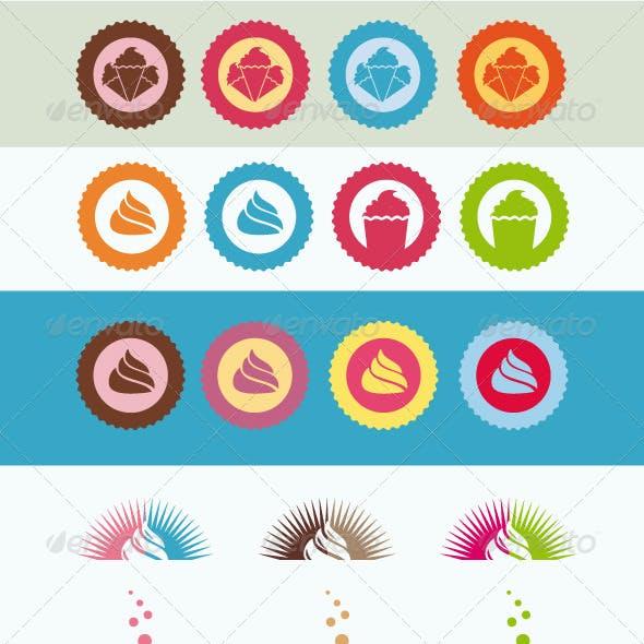 Premium Set Cupcake Bakery and Ice Cream