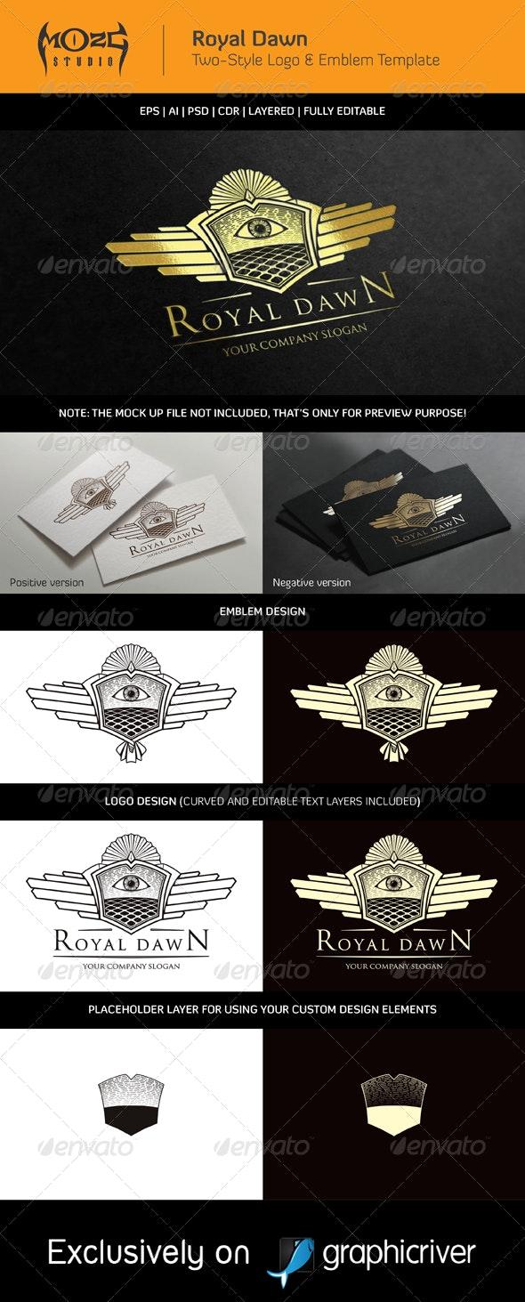 Royal Dawn - Logo & Emblem Template - Crests Logo Templates
