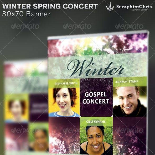 Winter Spring Concert Banner Template