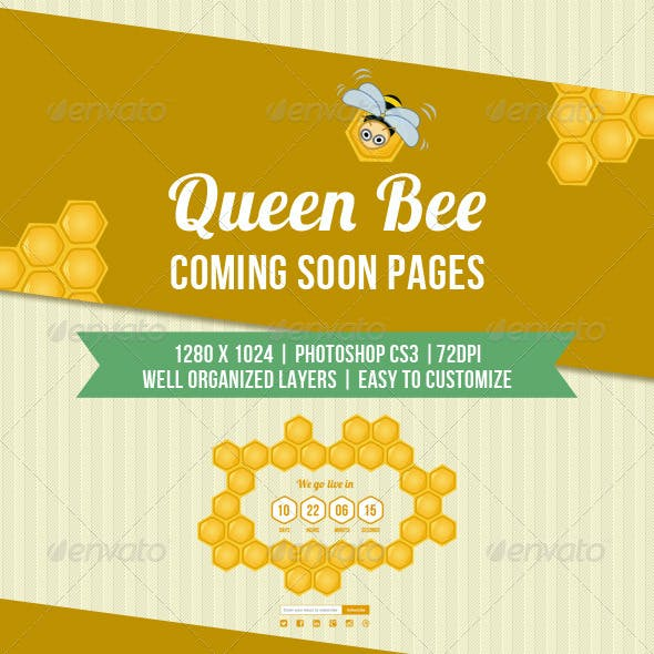 Queen Bee Coming Soon Pages