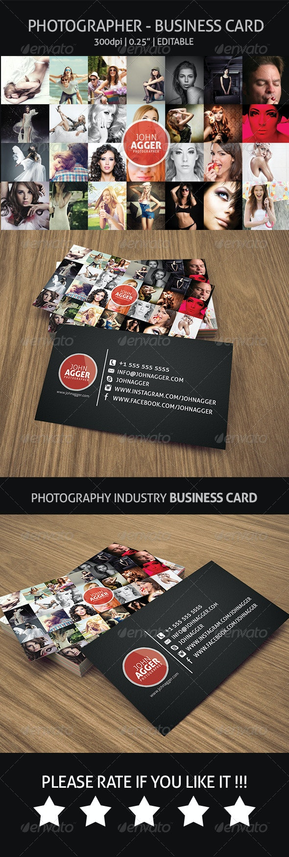 Photographer - Business Card - Industry Specific Business Cards
