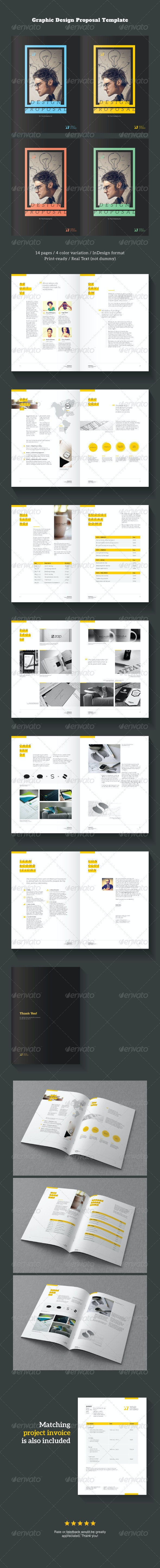 Graphic Design Project Proposal Template - Proposals & Invoices Stationery