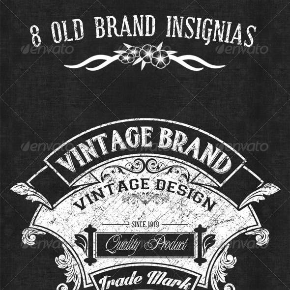8 old Brand Insignias