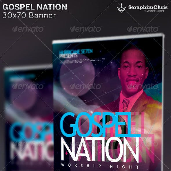 Gospel Nation: Church Banner Template