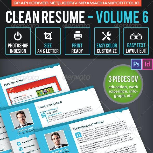 Simple & Clean Resume CV Volume 6