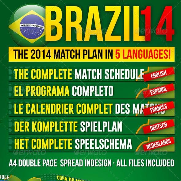 Brazil14 Match Schedule in 5 languages