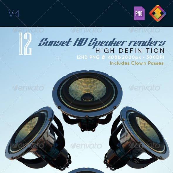 Sunset HD Speaker Renders V4