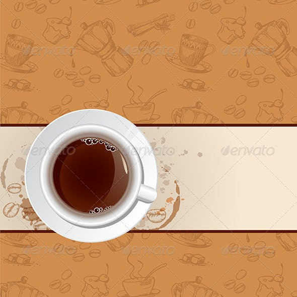 Coffee Background and Cup
