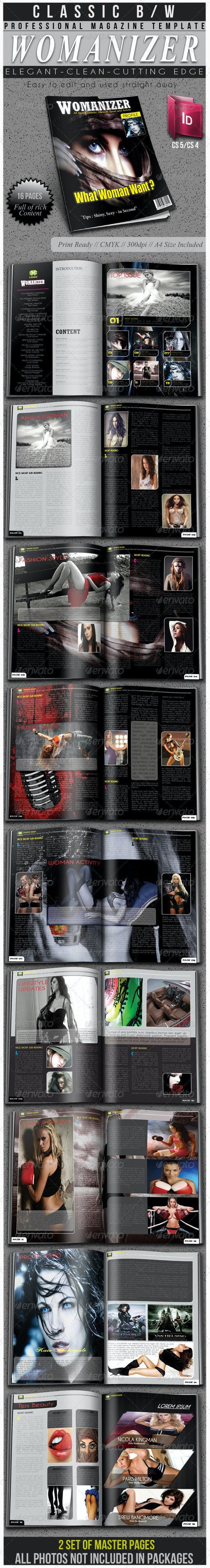 Womanizer Professional Magazine Template - Magazines Print Templates