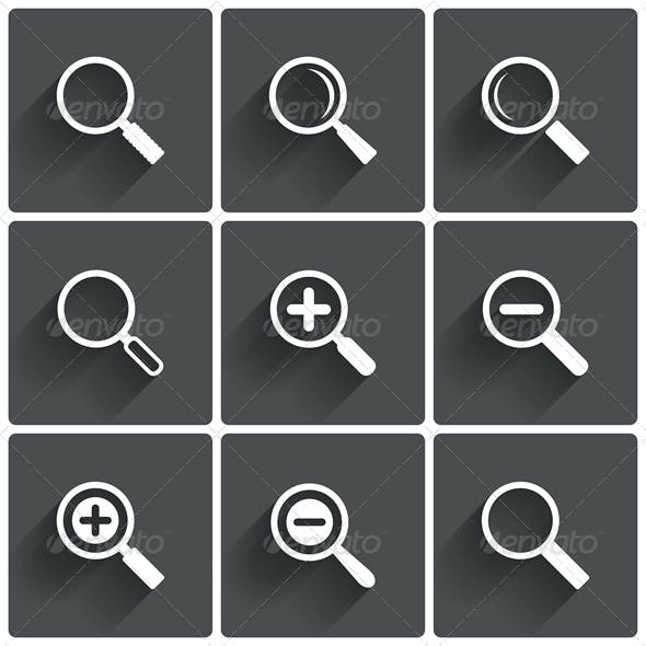 Zoom Icons Search Symbols