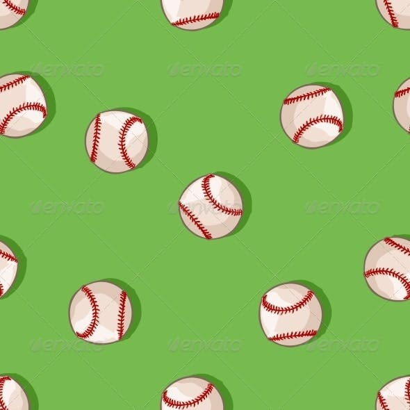 Seamless Pattern of Baseballs