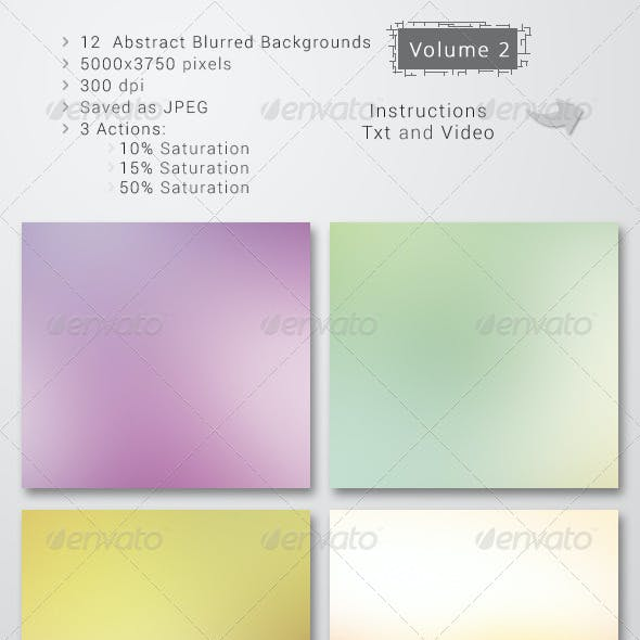12 Blurred Backgrounds  / 3 Actions / Vol 1