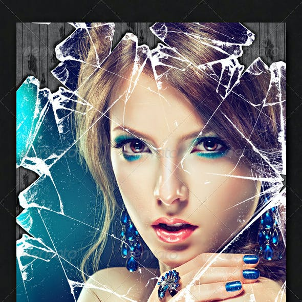 Shattered Glass Effect Photo Template
