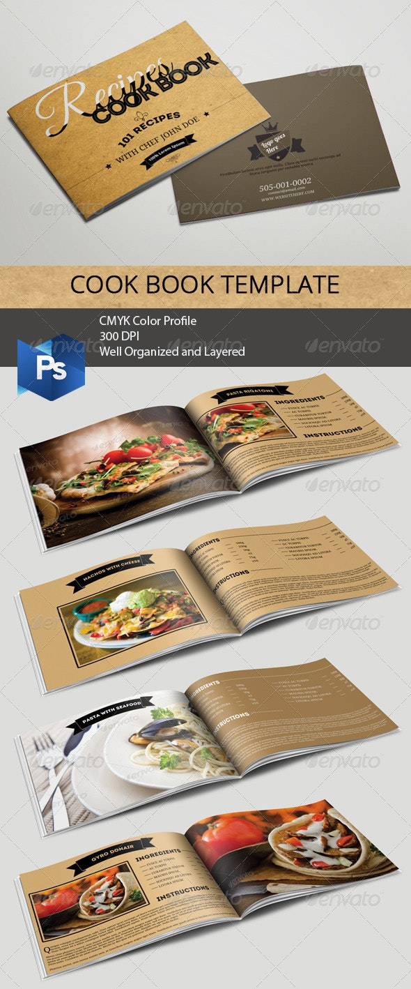 Cookbook Template - Food Menus Print Templates