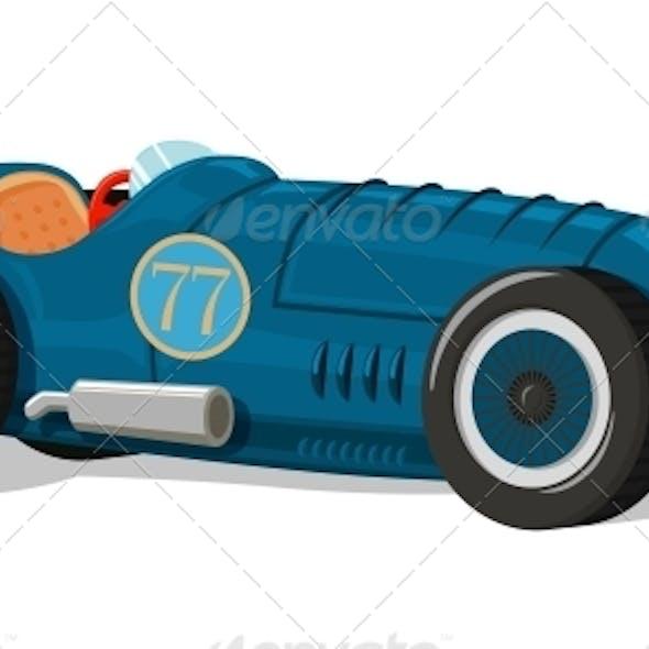 Retro Racing Car Icon