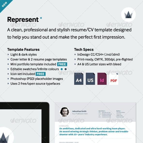 Represent CV/Resume Template
